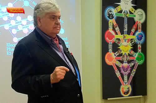 Harold Akrongold de Kabbalah Society New York fue invitado por Jose Luis Caritg a dar una clase de cabala en escuelas de misterios de barcelona