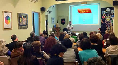 Issy benjamin de kabbalah society en Escuelas de Misterios de Barcelona ofrecio una clase de cabala invitado por Jose Luis Caritg