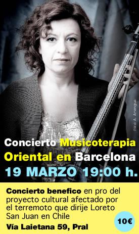 escuelas de misterios concierto de musicoterapia oriental en barcelona loreto san juan