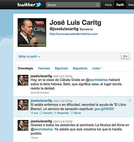 @joseluiscaritg la nueva cuenta de José Luis Caritg en Twitter - escuelas de misterios barcelona - cabala